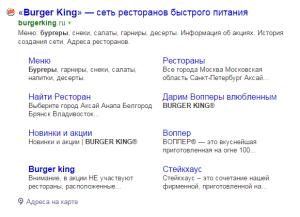 Расширенный сниппет в Яндекс. Drogin.ru
