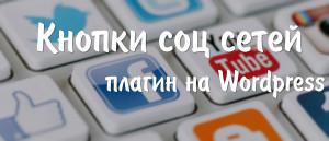 Кнопки социальных сетей - плагин на WordPress. Drogin.ru