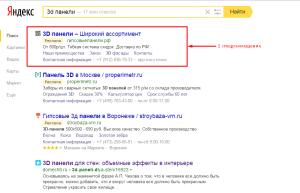 1 спецразмещение в Яндекс Директ. Drogin.ru