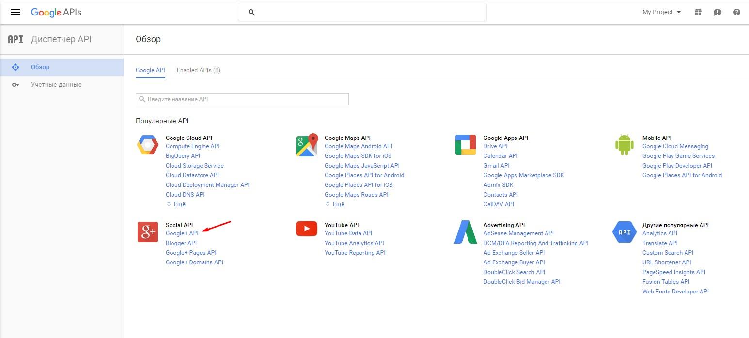 how to get google plus api key