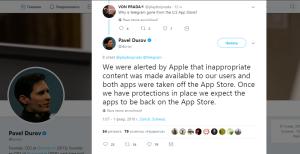 Твит Павла Дурова