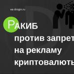 РАКИБ против запрета на рекламу криптовалюты