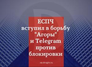 ЕСПЧ вступил в борьбу Агоры и Telegram против блокировки