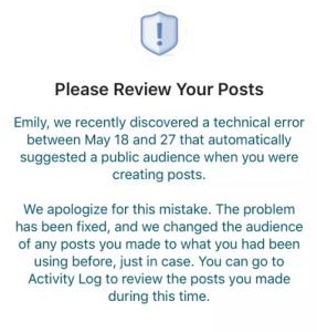 Пользователей соцсети уведомили об ошибке