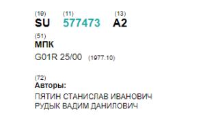 Яндекс.Патент содержит информацию об авторах патента